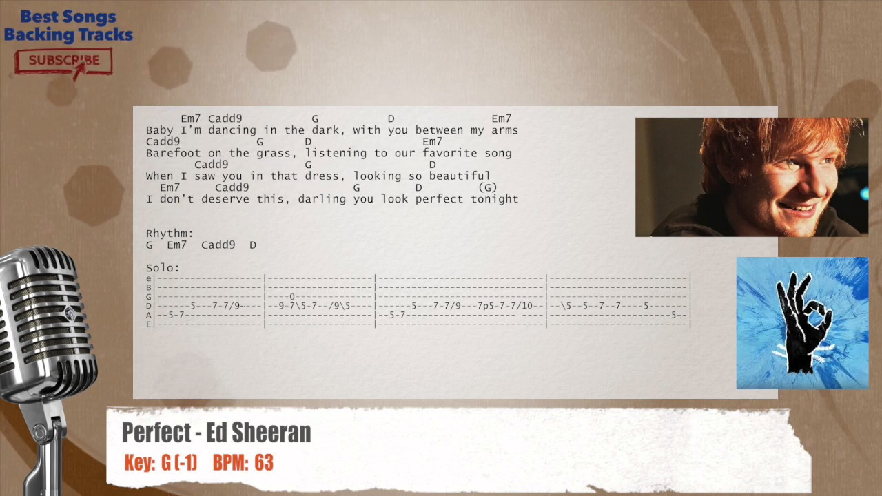 Perfect ed sheeran vocal backing track with chords and lyrics perfect ed sheeran vocal backing track with chords and lyrics hexwebz Images