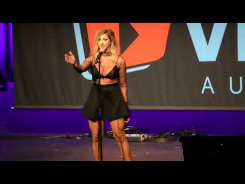 SUBTITLES Gabbie Hannas first ever  performance at Vidc Australia Out Loud