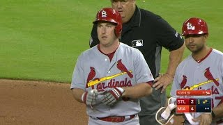 STL@MIA: Gyorko drives in two on a single to right