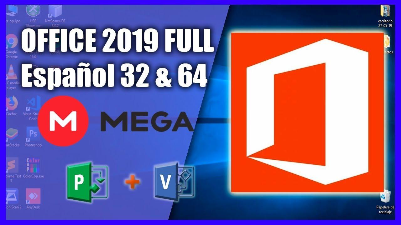 descargar e instalar office 2019 mega