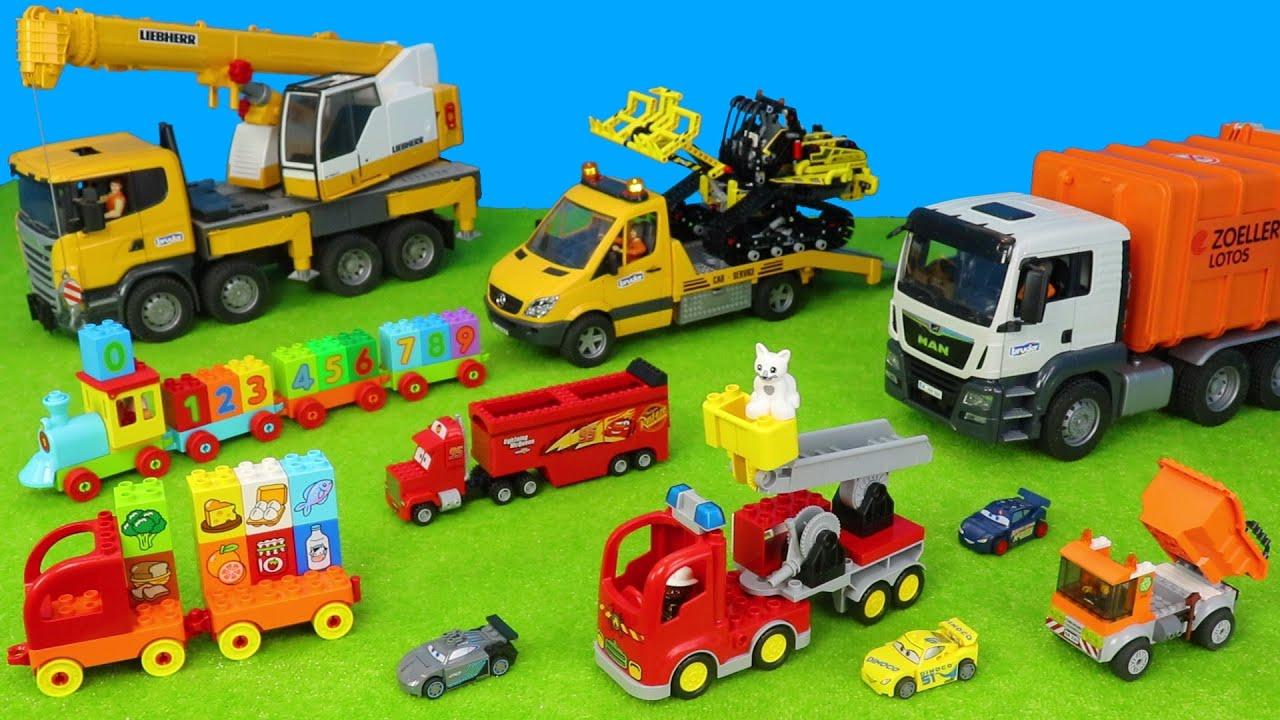 kinderspielzeugautos bruder kranmüllwagenabschlepper