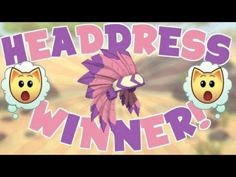 Light pink headdress giveaways