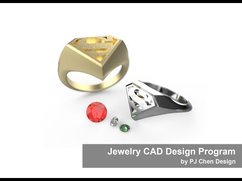 Jewelry CAD Design Tutorial #17: How to Build a Superman Signet Ring 3D CAD Model in Rhino 3D