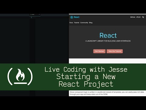 Starting a New React Project - Live Coding with Jesse