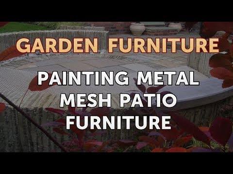 Painting Metal Mesh Patio Furniture