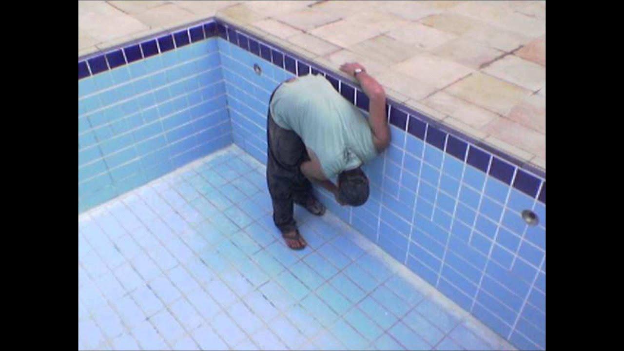 Reformar piscina troca de azulejos em joinville youtube - Azulejos piscinas ...