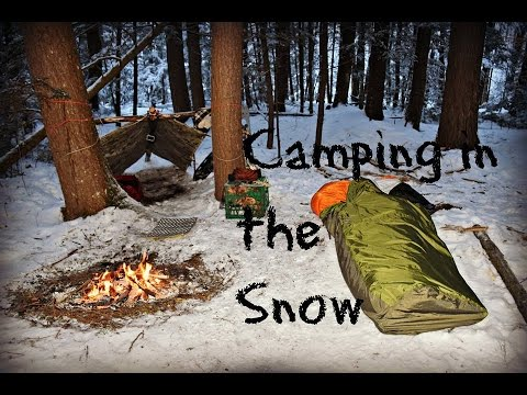 Solo Winter Overnight Bushcraft Camp