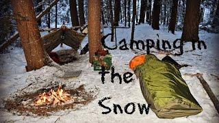 Solo Winter Overnight Bushcraft Camp