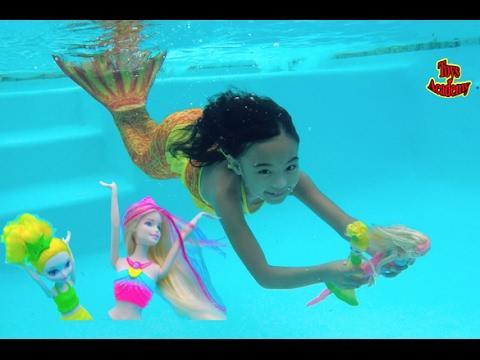 Barbie Rainbow Lights Mermaid Barbie Dreamtopia Bubbles N Fun Unboxing | Toys Academy
