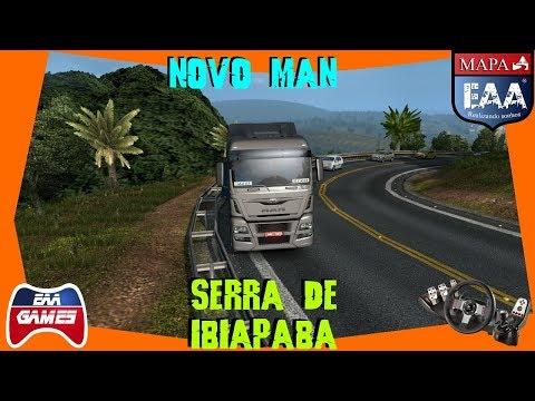 NOVO MAN, SAINDO DE SOBRAL - SERRA DE IBIAPABA - MAPA EAA - EURO TRUCK SIMULATOR 2 - G27 - 720p60