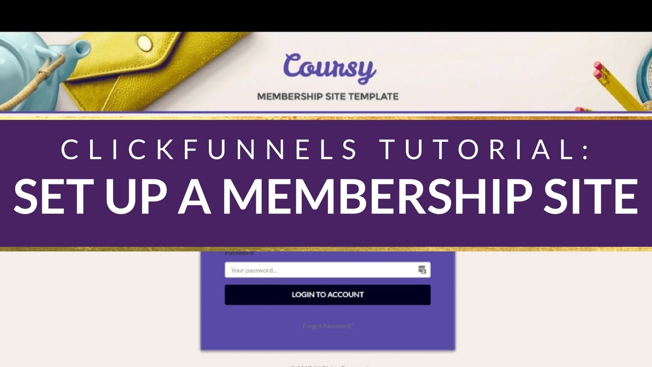 CLICKFUNNELS TUTORIAL: How to set up a ClickFunnels Membership Portal