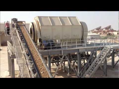 Qatar 350 t/hr Aggregate Sand Washing Plant - Feeder Plant - Part 1.wmv