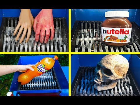 ODDLY SATISFYING SHREDDING COMPILATION! SHREDDING NUTELLA, SKULL, FANTA AND OTHERS