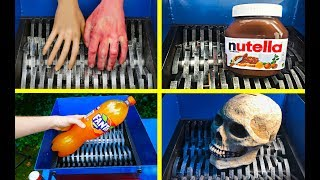 ODDLY SATISFYING SHREDDING COMPILATION SHREDDING NUTELLA, SKULL, FANTA AND OTHERS