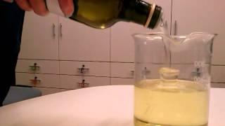 esperimento rifrazione con olio di semi di soia