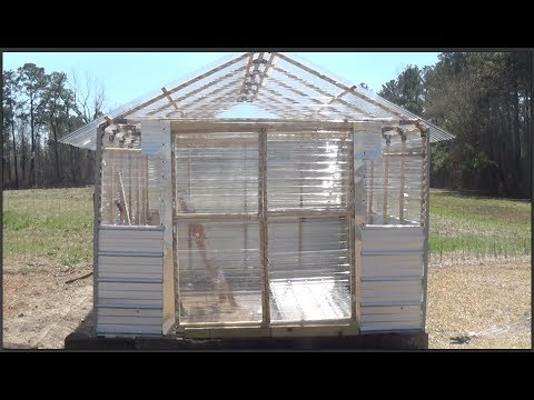 building my own greenhouse using the ez frames kit part 4