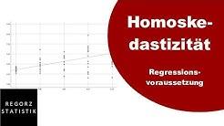 Homoskedastizität als Regressionsvoraussetzung prüfen
