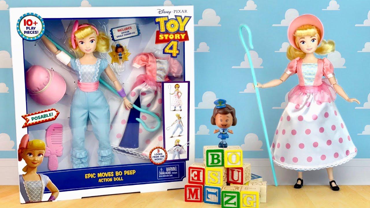 EPIC MOVES BO PEEP Toy Story 4 Gift Set Action Figure Doll Disney Pixar