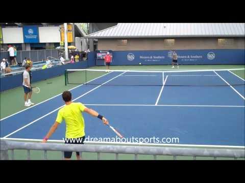 Grigor Dmitrov backhand slow motion