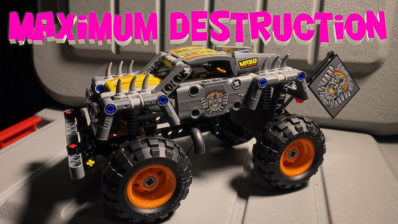 LEGO Technic Monster Jam Max-D 42119 Build and Review