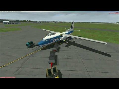 FSX | Just Flight | Fokker 27 Friendship | Garmin 530 manual | EGSH - EHAM