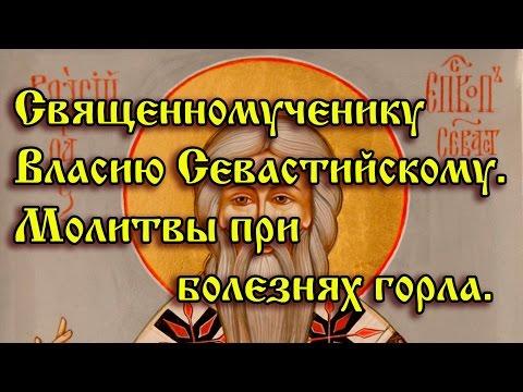 40.Священномученику Власию Севастийскому.  Молитвы при болезнях горла.