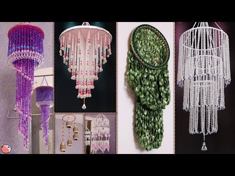 6 Wall Hangings !!! Handmade Chandelier Making || DIY Craft Ideas
