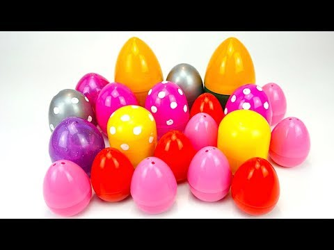 Сюрпризы и игрушки из мультиков для детей, открываем яйца