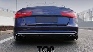 #topexhaust Audi A6 (c7) 3.0 TFSI. Звук выхлопа.