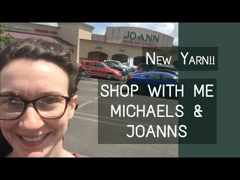 New Yarns Spring 2020 | Shop With Me At Joanns And Michaels! | Knitting House Square