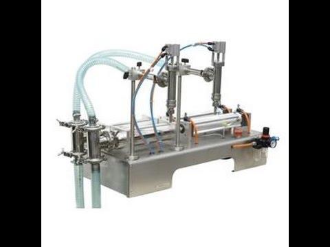 Manual pneumatic type liquid filling machine for liquid semi automatic  bottle filling system