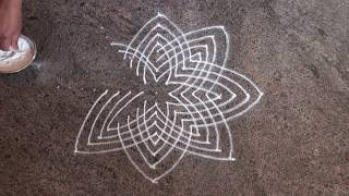 Laksmihrudaya Rangoli / 17 dots rangoli/ Pooja room Rangoli/Friday Rangoli