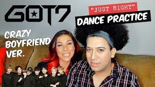 "GOT7 ""Just right(딱 좋아)"" Dance Practice #2 (Just Crazy Boyfriend Ver.) REACTION"