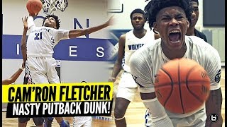 CAM'RON FLETCHER NASTY PUTBACK DUNK IN VASHON HOME OPENER!! KENTUCKY COMMIT DOUBLE-DOUBLE!
