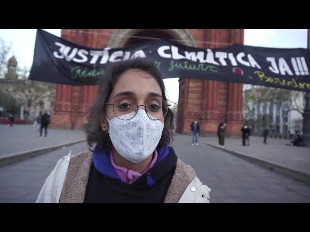 Barcelona 19/03/2021: Convocatòria global Climàtica: Ens roben el temps