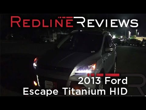 2013 ford escape titanium hid demonstration night drive youtube. Black Bedroom Furniture Sets. Home Design Ideas