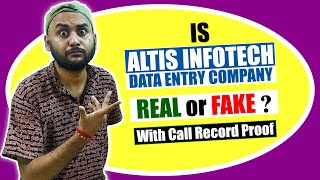 Is Altis Infotech Data Entry Company Real or Fake? | Altis Infotech Data Entry