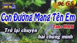 Karaoke Con Đường Mang Tên Em | Tone Nam beat chuẩn | Nhạc sống LA STUDIO| Karaoke 9669