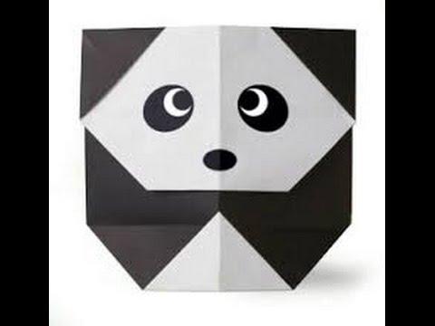 how to make an easy origami panda bear youtube