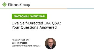 Live Self Directed IRA Q&A: Your Questions Answered - Video Image