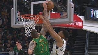Theis Blocks Giannis' Dunk! Kemba 40 Pts Giannis 32! 2019-20 NBA Season