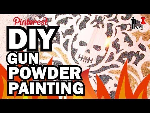 DIY Gun Powder Painting - Man Vs Pin #98