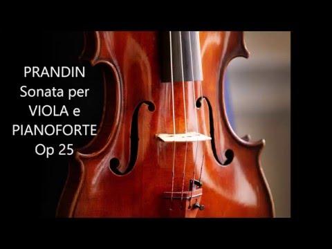PRANDIN - SONATA PER VIOLA E PIANOFORTE Op 25