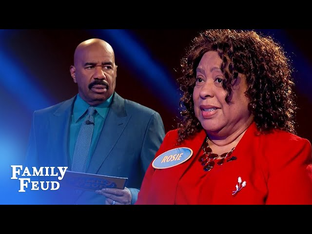 Steve Harvey's WHAT weighs 20 pounds?! | Family Feud