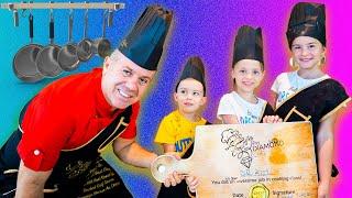 Мелисса Артур и Настя готовят шоколадную пиццу
