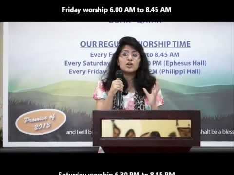 Ambassadors of God. Message by Sr. Jemimah Suvartha Church-Doha