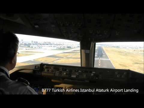 Cockpit View Istanbul Ataturk Airport Landing TK51 TC JJN hironuma