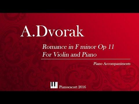 A.Dvorak - Romance in F minor Op 11 - Violin and Piano - Piano accompaniment