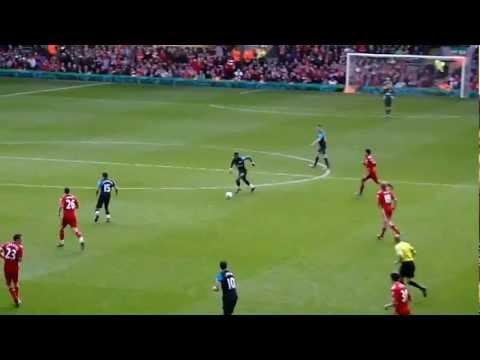 Liverpool Arsenal 1-2 Robin van Persie volley goal