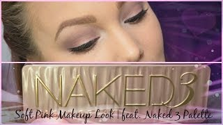 Soft Pink Makeup Look | feat.  Naked 3 Palette Thumbnail